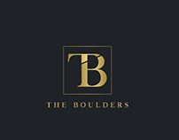 Logo and business card design for The Boulders