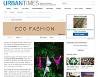 Eco-Fashion Column for the Urban Times
