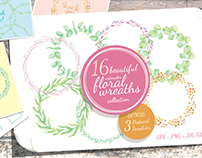 Watercolor Wreaths Collection