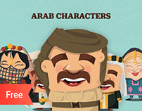 36 Free Arab characters illustrations.