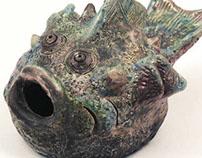 Pesce istrice sbarellato