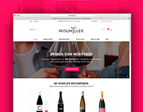 Diseño de la tienda de vinos Online MISUMILLER