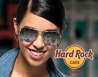 Poster for HardRockCafe Gdańsk displayed on billboard.