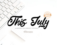This July Font 100% Free for Commercial Use