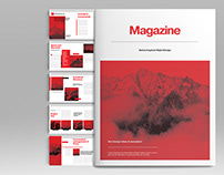 Red and Black Magazine Template