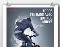 "DIAGEO. ""THE PASSION THAT MOVES US"" campaign."