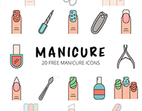 Manicure Vector Free Icon Set