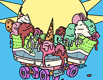 Ice Cream Trux (Summer Vibes print)