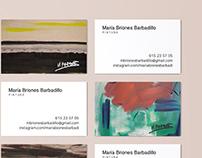 M. Briones business cards