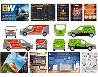 Print, Packaging, Van signage, POS
