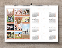 Free Family Wall Calendar 2020 Photography Template