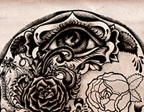 Moth & Skull
