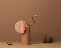 Gabo & Delaunay vases by NOOM