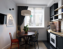 Kitchen CGI for a Cozy Interior Project by ArchiCGI