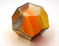 Stained Glass Dodecahedron