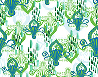 'Spring Flower drops' pattern design