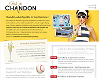 Club Chandon newsletter