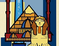 Egyptian Monument Illustration