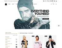 Seller eCommerce WordPress theme - Shop with sidebar