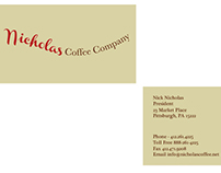 Nicholas coffee company business card