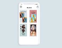 Storytelling app uiux