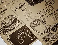 Flyer Chez Yann. Boulangerie française