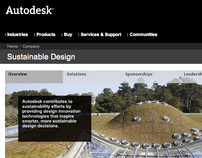 Autodesk Sustainability Microsite