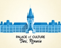 Palace of Culture - flat design