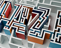 A maze - typography