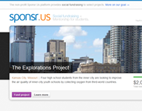 Sponsr.Us project showcase / homepage design
