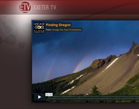Exeter TV video page design