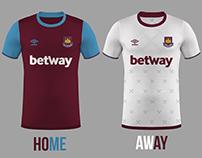 West Ham United Football Kits Home/Away