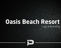 Oasis Beach Resort Logo and Branding