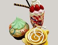 Sundae, Cupcake, Tea