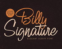 FREE | Billy Signature Elegant Script Font