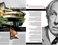 FRANK LLOYD WRIGHT | Editorial Spread