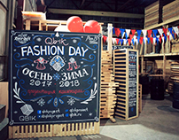 Chalk lettering for Qbik Fashion Day