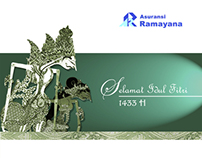 Idul Fitri Greetings Cards For Ramayana Insurance