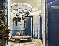 SPA Interior with wabi-sabi aesthetic