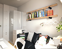 Tiny apartment 8m2 in Paris