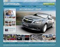 Chevy Cruze event microsite