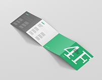 4-Fold Brochure Mockup - Square Format