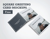 Free PSD Square Greeting Card Mockups