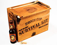 Shock Top Beer Wood Crate