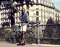 """Sunbathing in Paris"" editorial for HUF magazine"