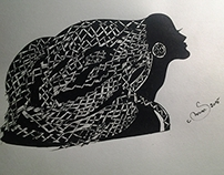 silhouette art fountain pen cotton paper‬