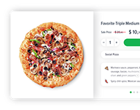 Pizza Product Card Design