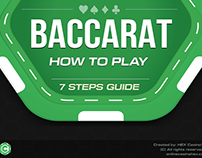 How to play Baccarat (Online Casino Game) - Infographic