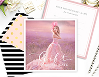 Photography Photoshop Template for Wedding Photographer