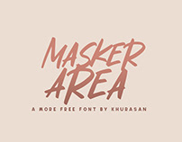Masker Area free font for commercial use